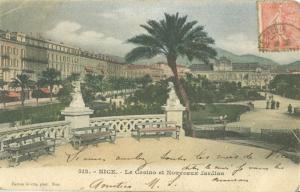 Nice, Le Casino et Nouveaux Jardins, 1903 used Postcard CPA