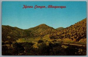 Postcard Albuquerque NM c1950s Tijeras Canyon on Route 66 U.S. Highway 66