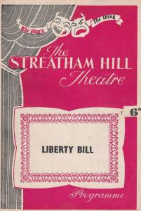 Liberty Bill Gerald Cross Doctor Who Miss Marple The Newcomers Theatre Programme