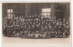 Lancashire; School Band Group RP PPC By J Taylor Of Burnley, c 1950's, Unposted