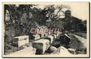 Old Postcard Arles Sur Rhone A Coin Des Alyscamps
