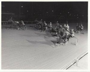 LIBERTY BELL Park Harness Horse Race, M J GESTURE wins , 1970-80s