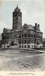Beloit Kansas~Courthouse~Dirt Rd Needs A Scooper~CU Williams Photoette~1912
