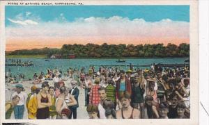 Pennsylvania Harrisburg Scene At Bathing Beach
