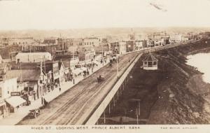 RP: PRINCE ALBERT , Sask. , Canada , 1900-10s ; River Street, Looking West
