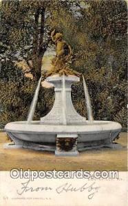 Statue Postcard Louisville, KY, USA Hogan Fountain, Cherokee Park