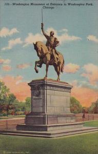Illinois ChicagoWashington Monument At Entrance To Washington Park  1952