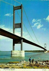 The Severn Bridge Oepen 8th September 1966 Gloucestershire Postcard
