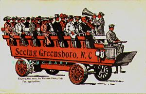 1907 Greensboro North Carolina PC: 'Seeing Greensboro' With Unopened Foldout