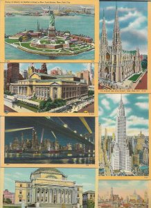USA - New York City Linen Postcard Lot of 18 01.11