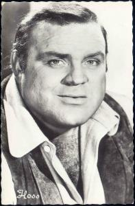 BONANZA Movie Star Postcard, Eric Hoss Cartwright Actor Dan Blocker 60s RPPC (5)