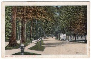 Groton, Mass, Main Street, Looking South