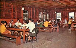 Spofford New Hampshire~Camp Notre Dame~1950s Dining Room Postcard