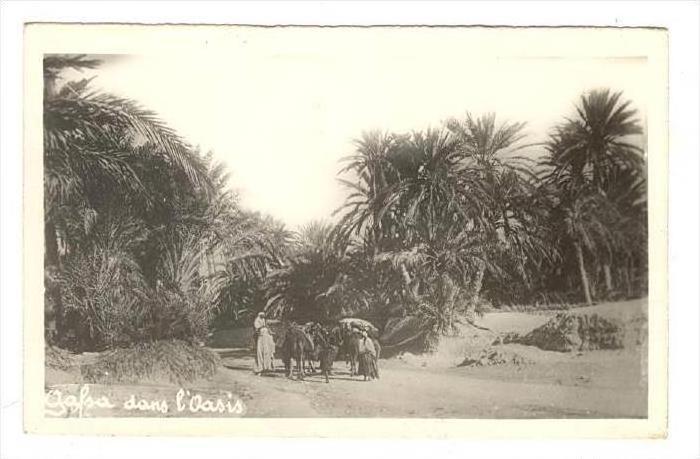 RP  Arab family, Gafsa dans l'oasis, Tunisia , 20-30s