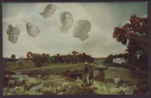 Diorama Old Black Joe Postcard