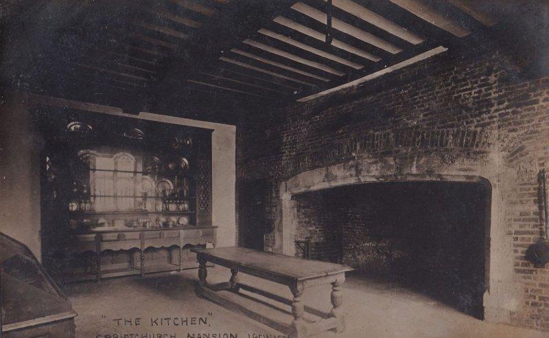 The Kitchen Christchurch Mansion Ipswich Vintage RPC Postcard