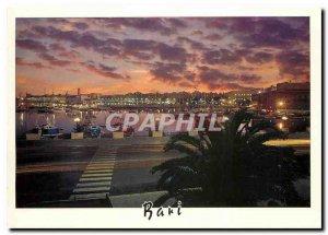 Postcard Modern Bari Lungomare di notte
