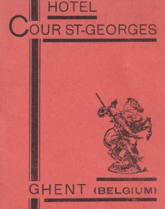 Hotel Cour St Saint Georges Ghent Belgium Guide 1950s Book