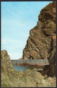 Quebec ~ Rugged Cliffs along Gaspe Hwy near STE. MARTHE DE GASPE ~ 1950s-1970s