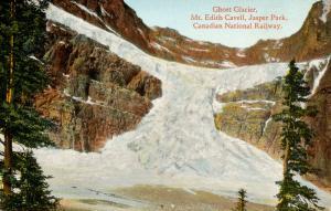 Canada - Alberta, Jasper Park. Ghost Glacier, Mt Edith Cavell. Glacier crum...