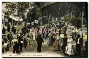 Old Postcard Vichy A Corner Of I & # 39Allee Covered