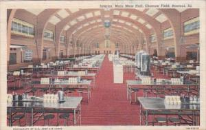 Illinois Rantoul Chanute Field Main Mess Hall Interior 1941 Curteich