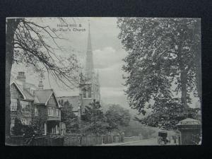 London Lambeth Southwark HERNE HILL St. Paul's Church c1905 Postcard by H.Norman