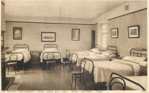 Postcard United kingdom British railway convalescent home great northern ward
