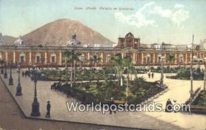 Lima, Peru Palacio de Gobierno  Palacio de Gobierno