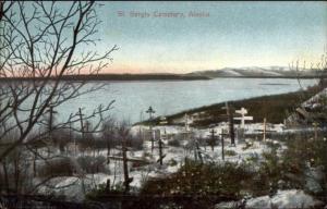 St. Sergis Cemetery Alaska AK c1910 Postcard