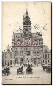 Old Postcard The Compiegne Hotel de Ville