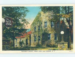 Unused W-Border CHURCH SCENE East Aurora - Near Buffalo New York NY A8358