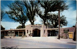 Albuquerque NM Postcard LA HACIENDA DINING ROOM Mexican Restaurant 1960 Cancel