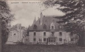 SAVIGNY, France, 1900-1910's; Chateau Vue Prise Du Parc