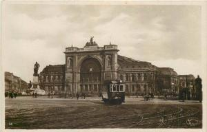Hungary Budapest Eastern Terminus Train Station tramway vintage photo postcard