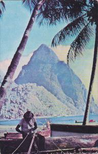 The Pitons , Soufriere , St Lucia , PU-1956