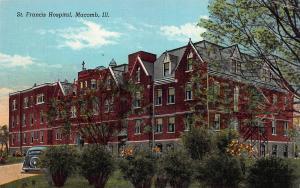 St. Francis Hospital, Macomb, Illinois, Early Linen Postcard, Unused