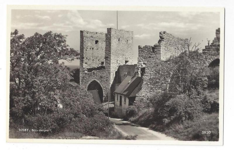 RPPC Sweden Visby Norderport Real Photo Post Card