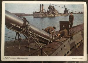 Mint Germany Postcard Color RPPC Loading U Boat Submarine Kriegsmarine WW2