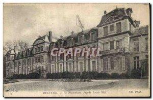Old Postcard Facade Prefecture Louis XIII Beauvais