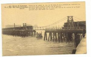 Zeebrugge , Belgium, 1918  Ruines de Zeebrugge, Breach made by Explosion of E...