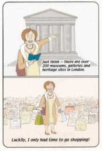 200 London British Art Museum Gallery Never Visit Tourist Comic Humour Postcard