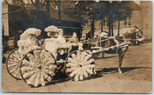 c1910s Los Angeles CA RPPC Photo Postcard Fiesta De las Flores Parade Float