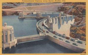 NEVADA, 1930-40s; Transcontinental Highway across Hoover ( Boulder ) Dam