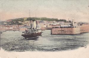 Steamship at Pier , GUERNSEY , PU-1903