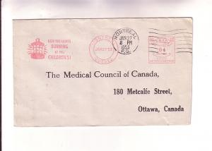 Cover to Medical Council of Canada, Montreal 4 Cent Machine Cancel Children's...