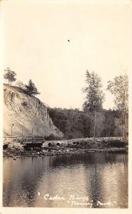 Cedar Bluff~Footbridge @ Ramsey Park RPPC c1922