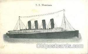 S.S. Mauretania Cunard Ship Unused light yellowing on card from age