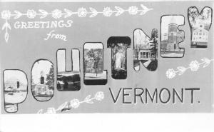 Poultney Vermont~Views from Town~1950s Large Letter RPPC Postcard