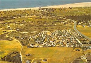 Denmark Campingpladser pa Strandvejen til Fnao Bad Aerial view Beach